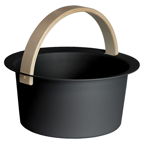 Sauna-Eimer Cozmic 6 l, Aluminium Schwarz