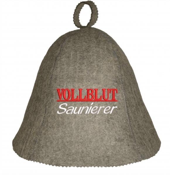 """Saunahut """"Vollblut"""" aus 100% Wolle"""