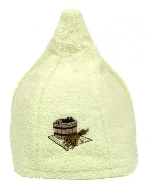 Saunahut Zwergenmütze Baumwolle Kiwi Bestickt