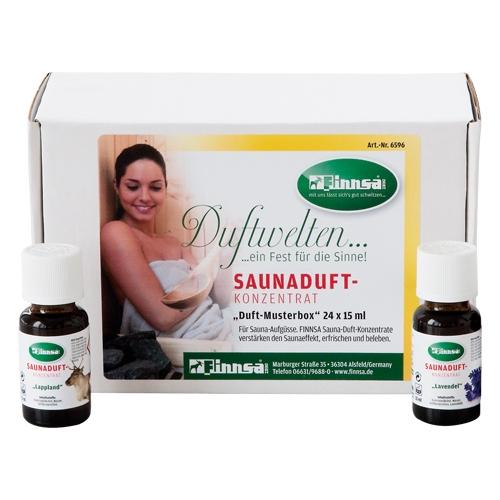 Saunaduft-Konzentrat Musterbox 24x15 ml