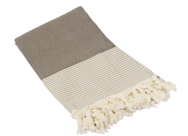 Fouta Honeycump Dunkelgrau