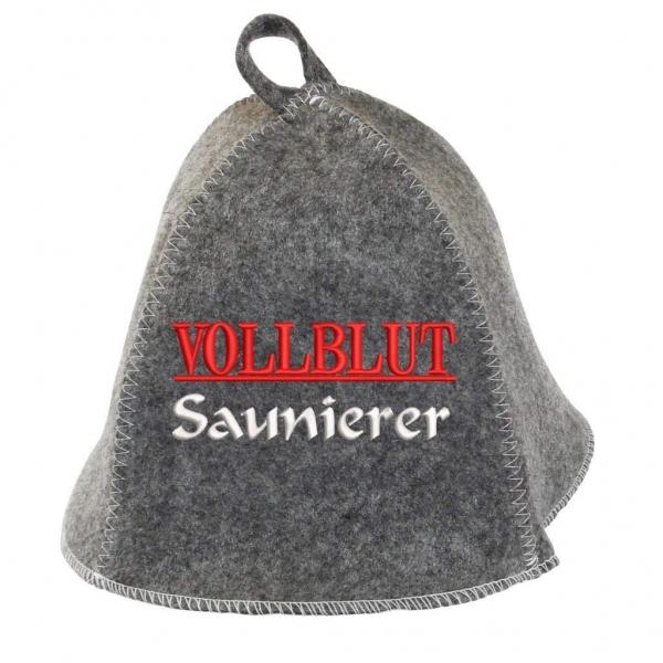 """Saunhut """"Vollblut Saunierer"""" aus Soft-Filz"""