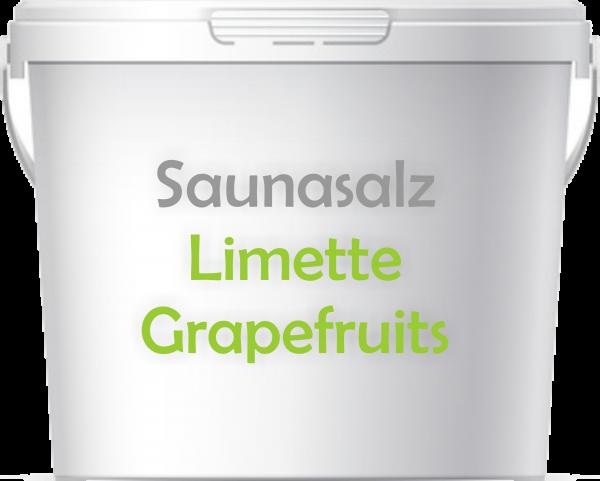Premium Saunasalz Limette Greapefruits mit Arganöl angereichert