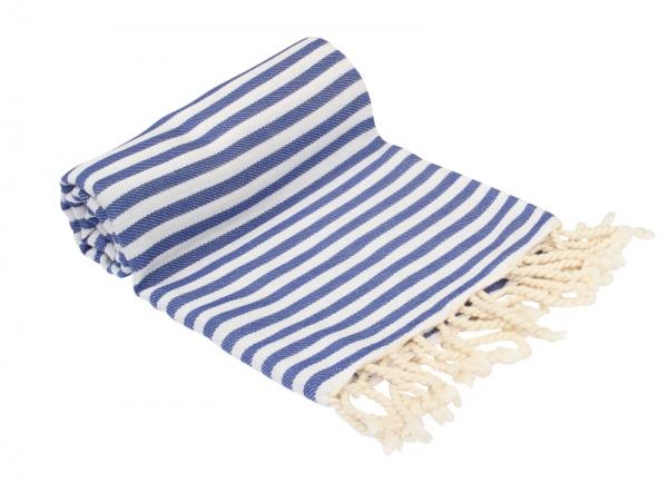 Plaid Strandtuch 220x260 XXL Hamamtuch Blau