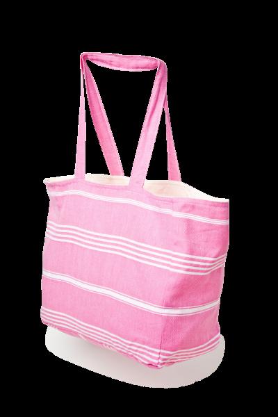 Strandtasche aus Pestemal Stoff Pink
