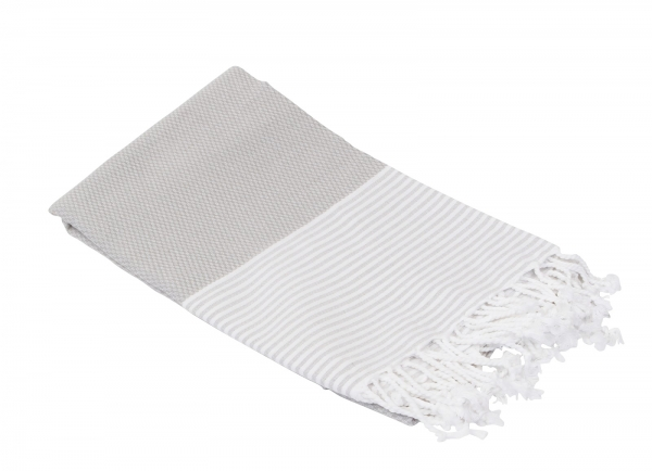 Fouta Honeycump Grau