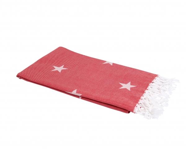 Hamamtuch Jacquard Stars Rot