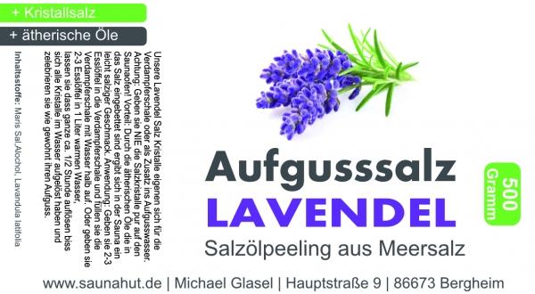 Lavendel Aufguss Salz Salzkristalle 500 Gramm