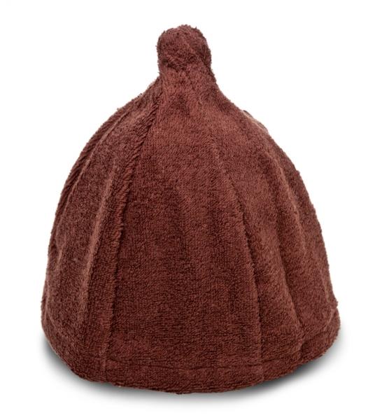 Saunahut Zwergenmütze Baumwolle Braun Bestickbar mit Namen