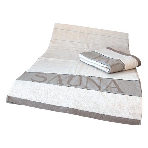 Sauna-Liegetuch Exklusiv ca.75 x 220 cm, natur