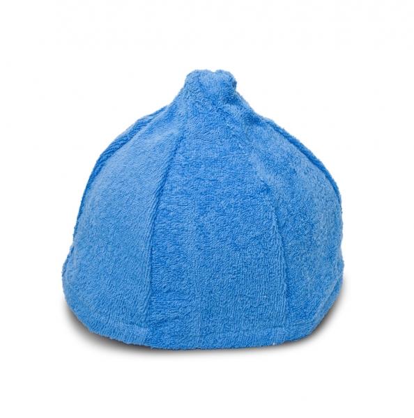Saunahut Zwergenmütze Baumwolle Blau Bestickbar mit Namen