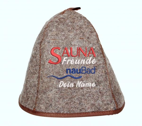 Saunahut Classic Plus SaunaFreunde NauBad Personalisiert