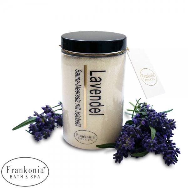 Lavendel Sauna Salz Meersalz mit Jojobaböl | 400g