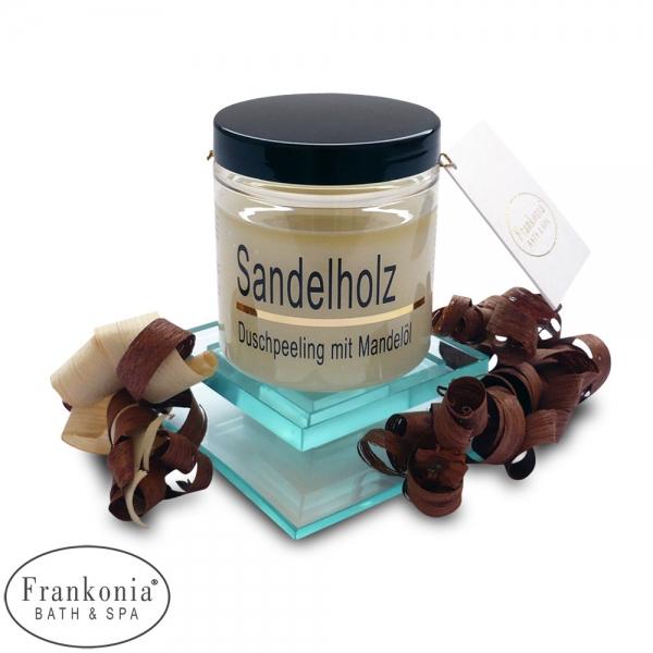 Sandelholz Duschpeeling Salz Körperpeeling mit Mandelöl | 320g