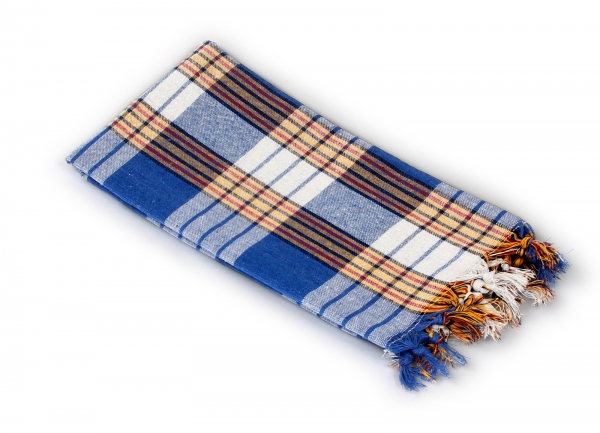 Saunatuch Saunakilt Classic Blau Kariert