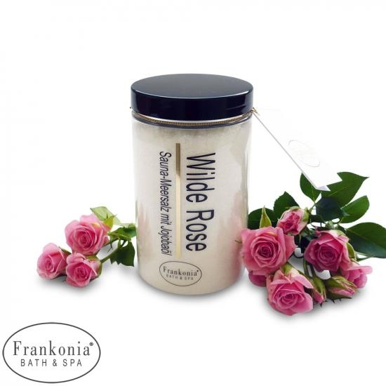 Wilde Rose Sauna Salz Meersalz mit Jojobaböl | 400g