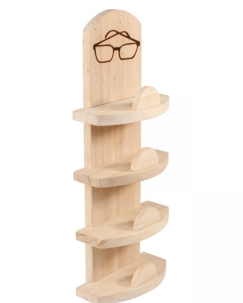 Sauna Brillen Regal Edel aus Erle