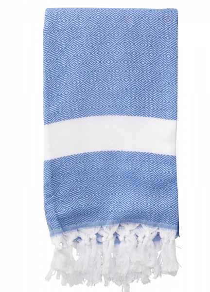 Hamamtuch Saunatuch Diamant Blau