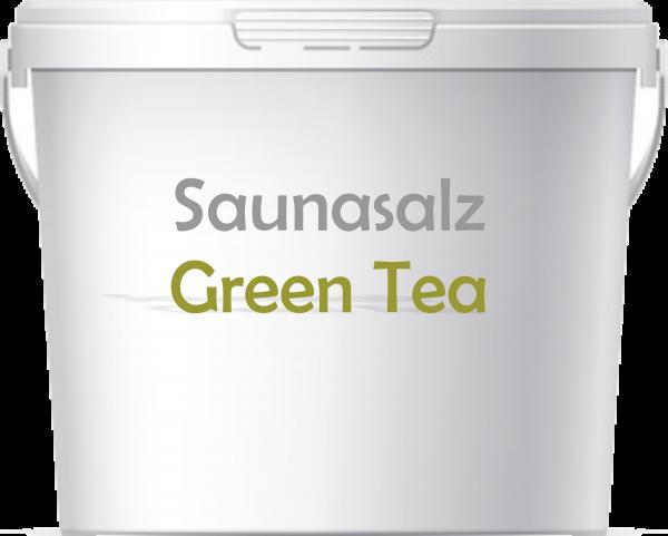 Premium Saunasalz Green Tea mit Arganöl angereichert