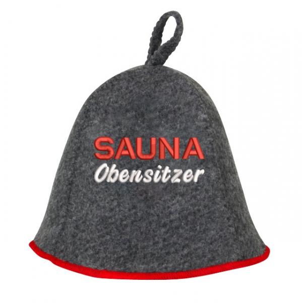 """Saunhut """"Saunaoben Sitzer"""" aus Soft-Filz"""