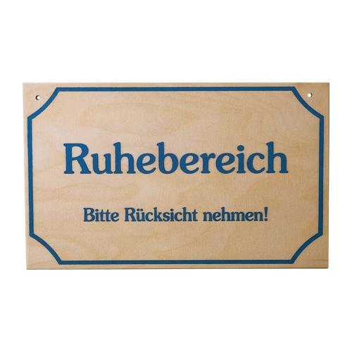 """Sauna Schild """"Ruhebereich"""""""