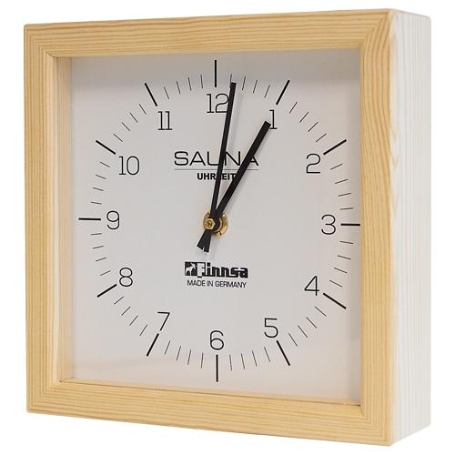 Sauna-Uhr, quadratisch, Gehäuse Kiefer