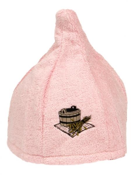 Saunahut Zwergenmütze Baumwolle Rose Bestickt