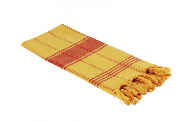Hamamtuch Classic gelb rot