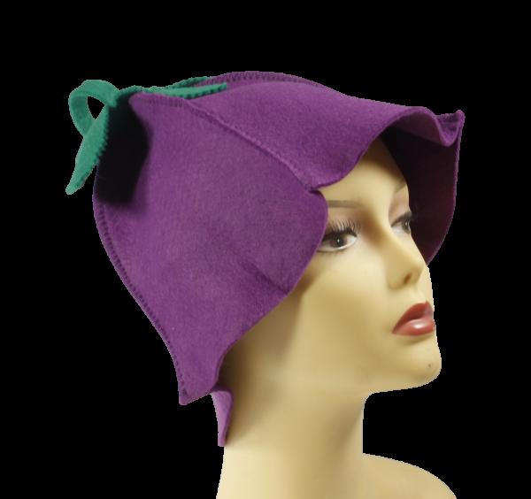Saunahut Blume Lavendel