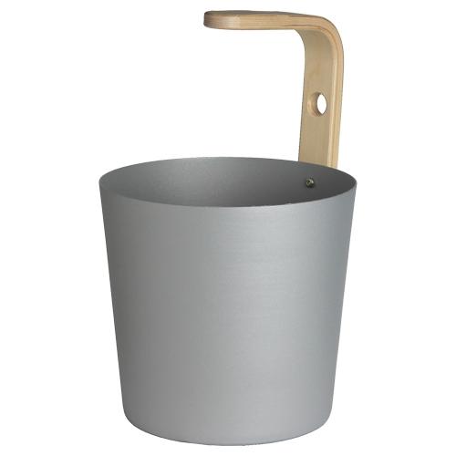 Sauna-Kübel Earth 6,5 l, Aluminium grau