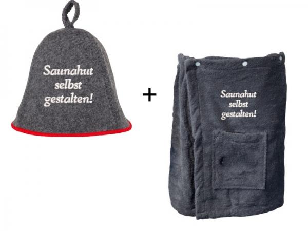 Sauna Set Saunahut & XL Saunakilt SELBST GESTALTEN
