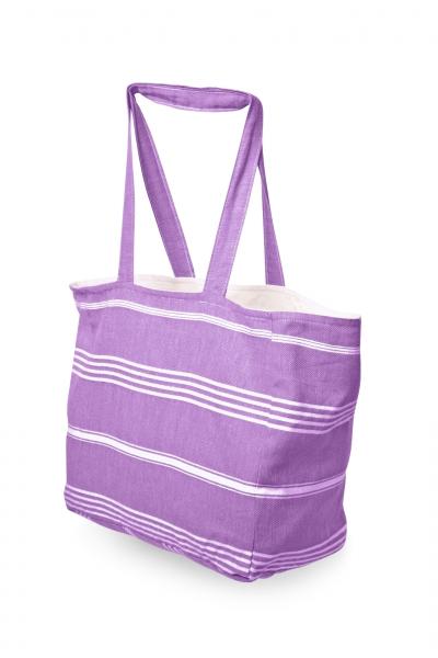 Strandtasche aus Pestemal Stoff Lavendel