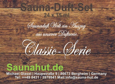 Sauna Duft Box Set 24 Düfte a 15 ml