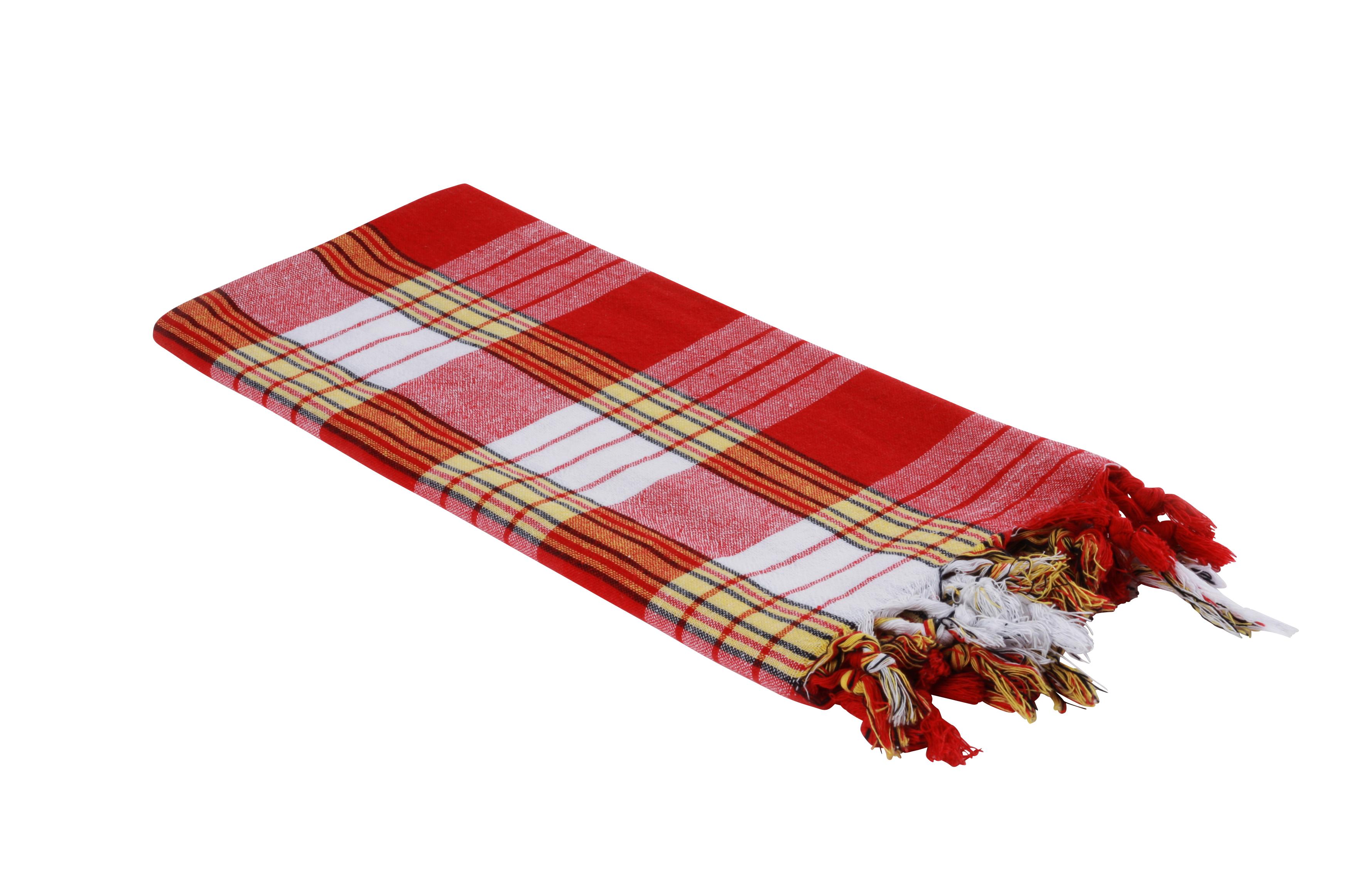 Pestemal Classic rot Saunakilt kariert Saunatuch Hamamtuch 4 Stück Handtuch
