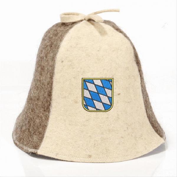 Saunahut Bayern Wappen