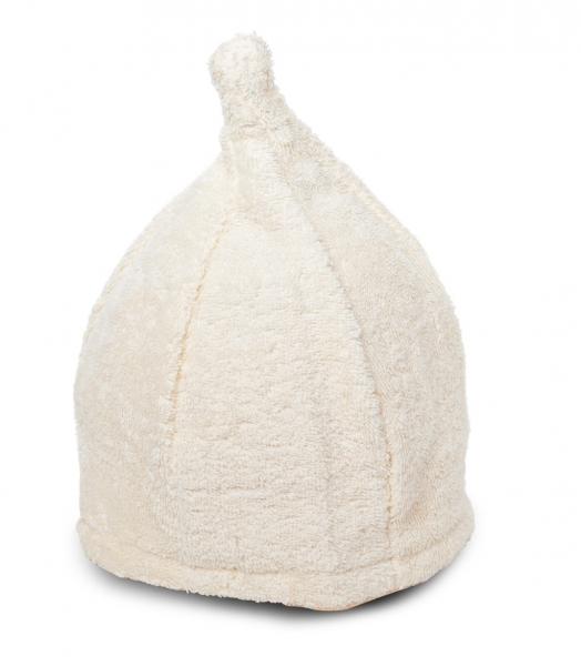 Saunahut Zwergenmütze Baumwolle beige Bestickbar mit Namen