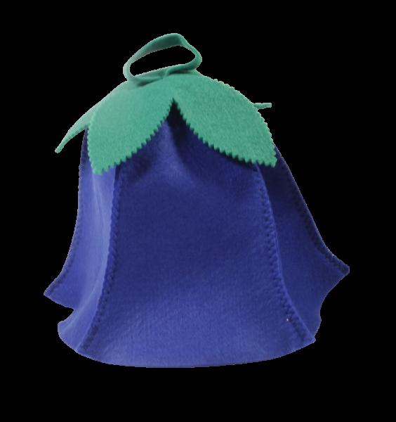 Saunahut Blume Blau