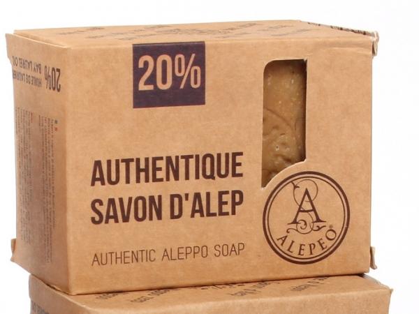 Natural Olivenölseife mit 30 % Lorbeeranteil Block