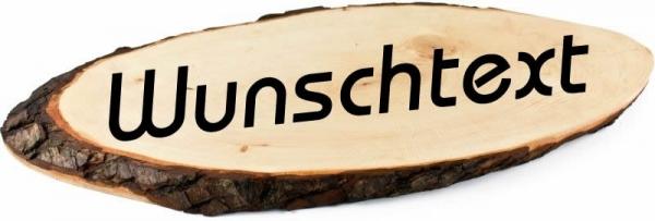 Saunaschild mit Wunschtext Small 40-46 cm