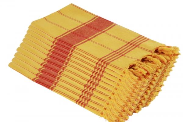 20x Saunatuch Saunakilt Classic Deux Gelb Rot