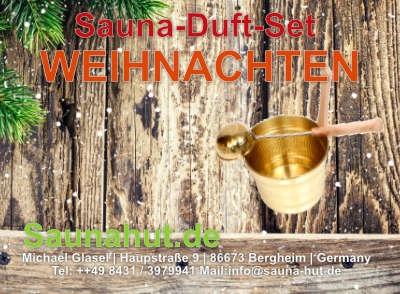 Saunaduft Set Weichnachten 5 Düfte