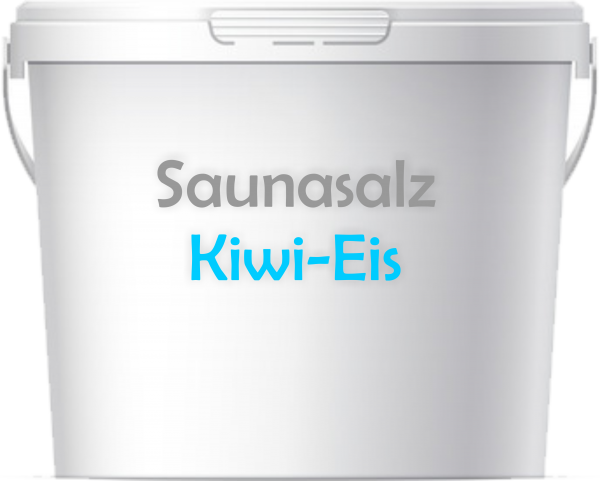 Premium Saunasalz Kiwi Eis mit Arganöl angereichert
