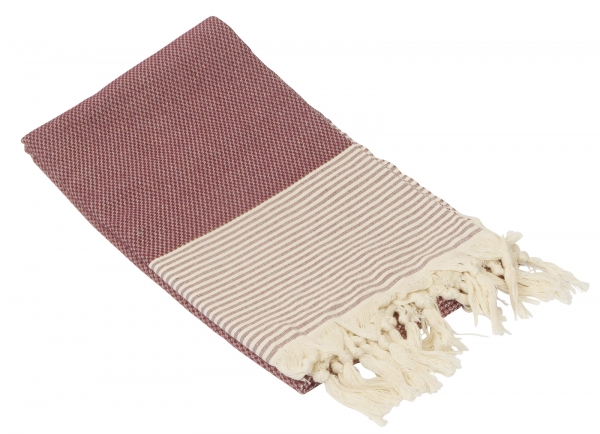 Fouta Honeycump Bordorot