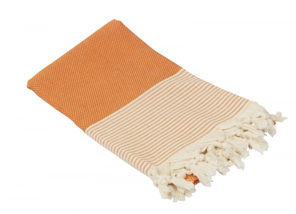 Fouta Honeycump Orange