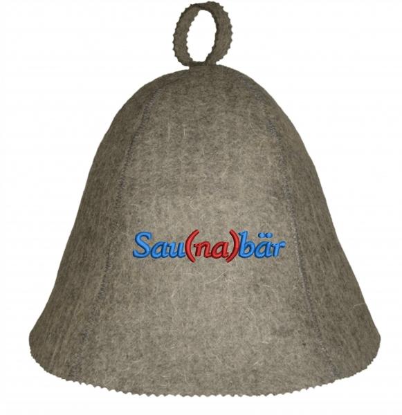 """Saunahut """"Sau(na)bär"""" aus 100% Wolle Saunabär"""