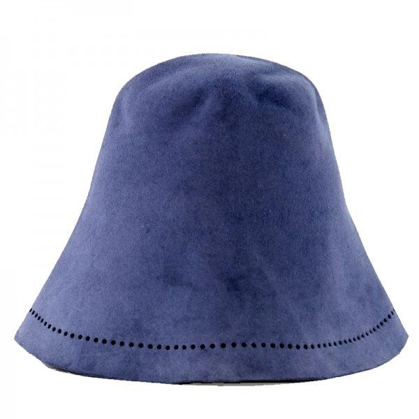 Saunahut Hasenfilz Blau Violett