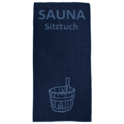 Sauna-Sitztuch 160x70 cm dunkeblau