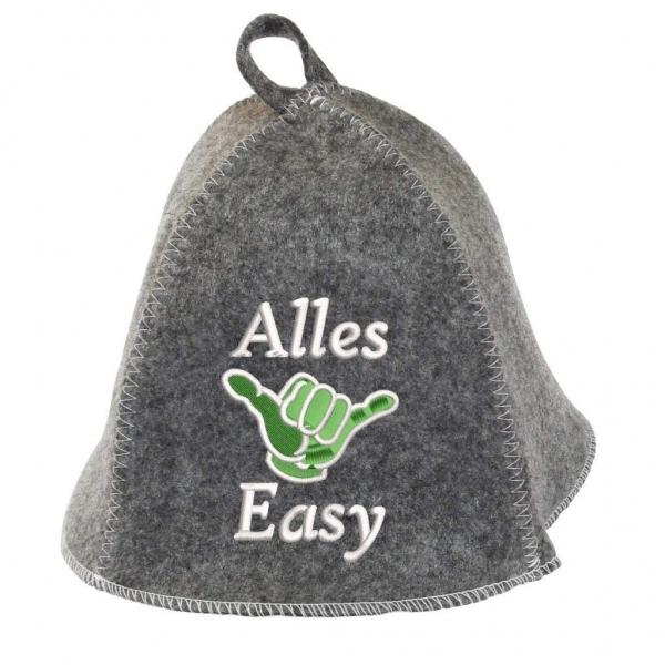 """Saunhut """"Alles Easy"""" aus Soft-Filz"""