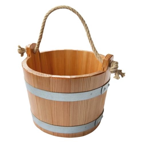 Sauna-Kübel 6,5 l - Trageseil - Lärche, versiegelt