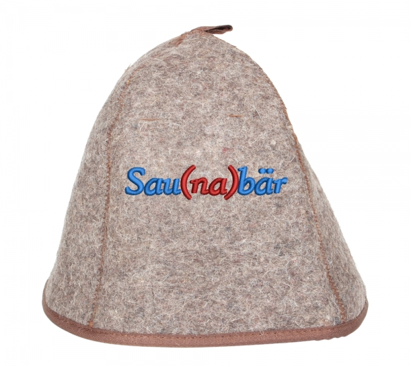 Saunahut Classic Plus 100% Wolle Saunabär
